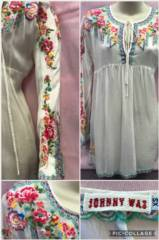 Johny Was Silk Embroidered Top_image