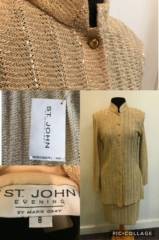 St. John Gold 2pc Suit_image