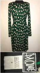 Diane VonFurstenberg Green Leopard Print Dress_image